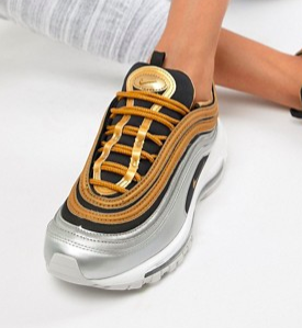 Nike Black And Gold Metallic Air Max 97 Sneakers
