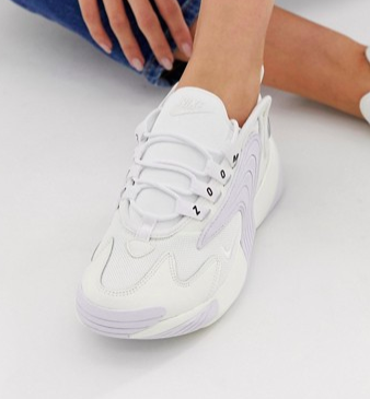 Nike Zoom 2K sneakers in white