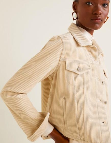 Mango Buttoned corduroy jacket