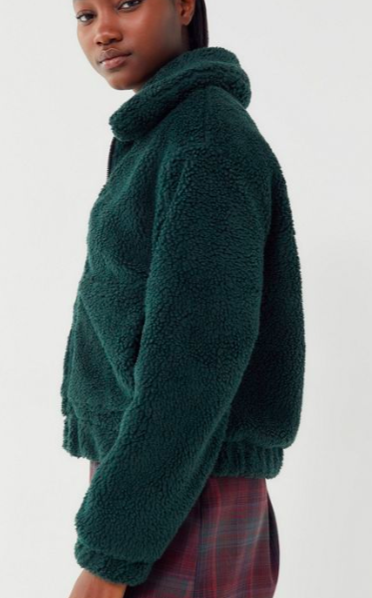 UO Cropped Teddy Jacket