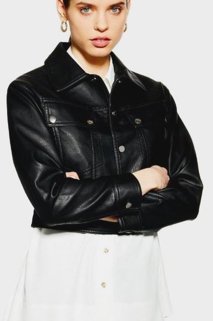 Topshop Western PU Jacket
