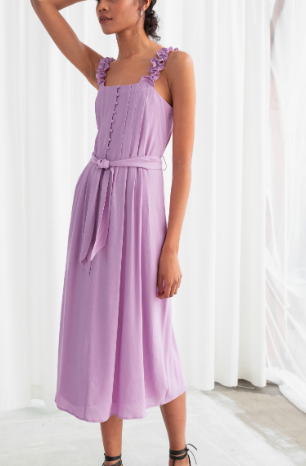 Stories Ruffle Strap Midi Dress