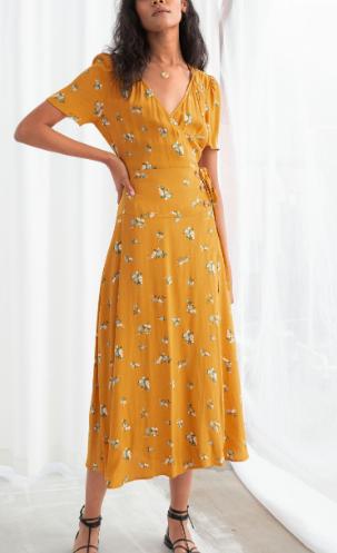 Stories Flowy Wrap Midi Dress
