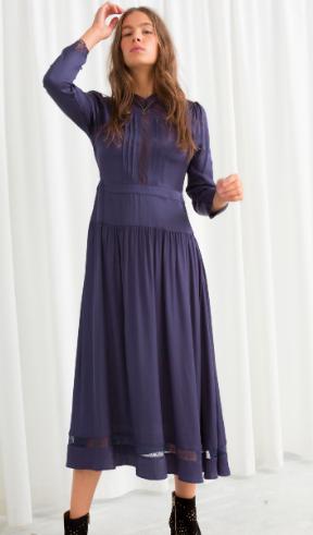 Stories Lace Ribbon Midi Dress