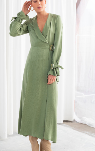 Stories Belted Wrap Maxi Dress