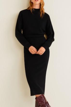 Mango Knit long dress