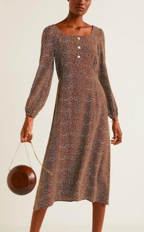 Mango Polka-dot print dress