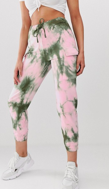 ASOS DESIGN jogger in tie dye print