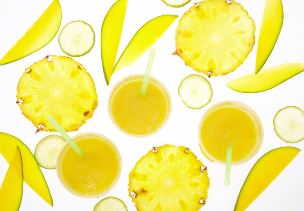 Pineapple-mango smothie.