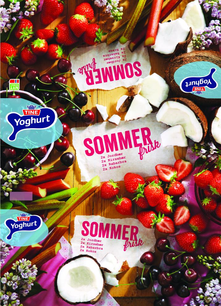 TINE yoghurt- summer.