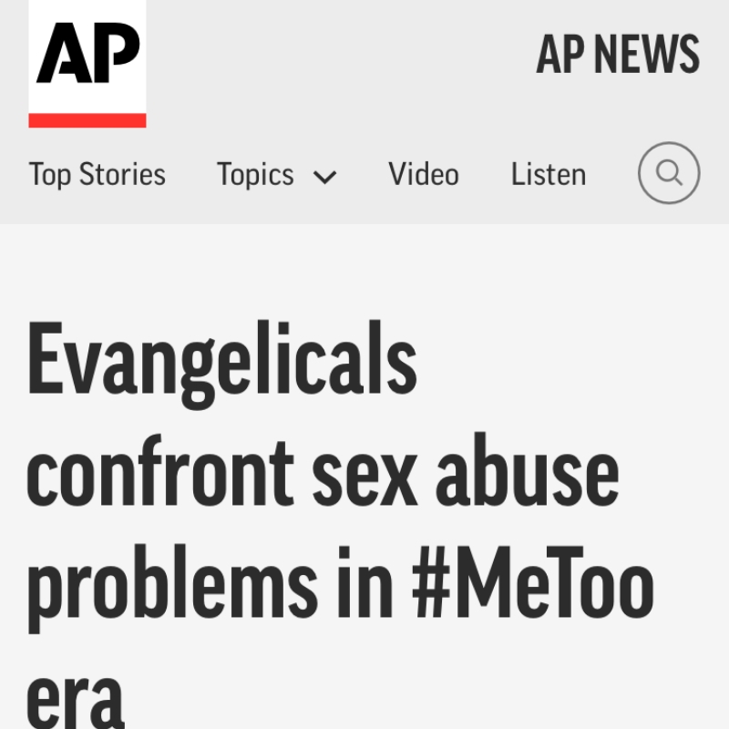 Evangelicals confront sex abuse problems in #MeToo era