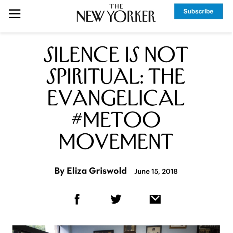 Silence Is Not Spiritual: The Evangelical #MeToo Movement
