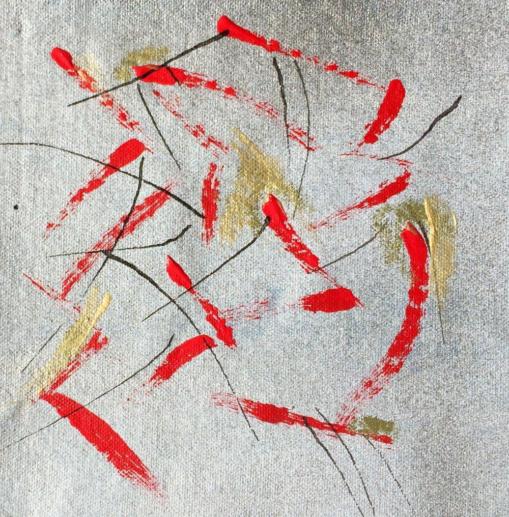 Acrylic/Ink on canvas 20 3/4 X 20 3/4 2015