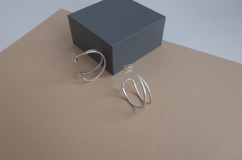 Teardrop hoop earrings by Heather Woof Jewellery