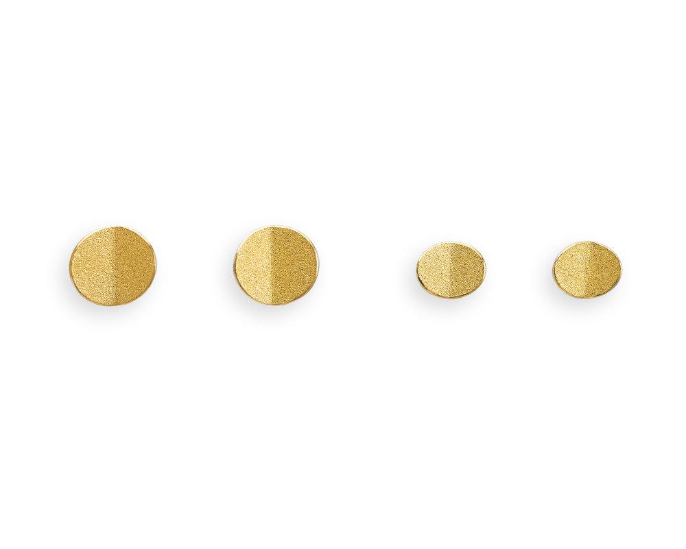 Fold studs   Silver and fine gold bi-metal
