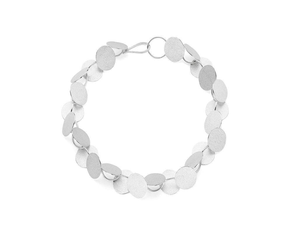 Bold rhythm bracelet   Sterling silver