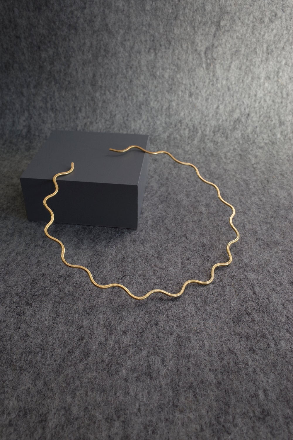 Wave Torc, gold vermeil. By Heather Wof jewellery