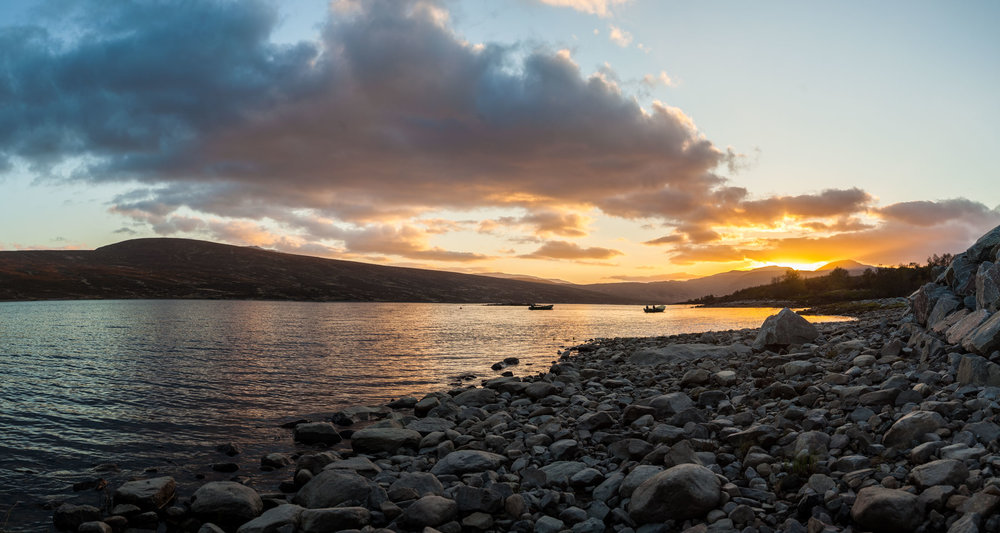 Loch Shin, Highlands, Scotland – Sunset mit 60 Megapixel mit der Canon 5D Mark II