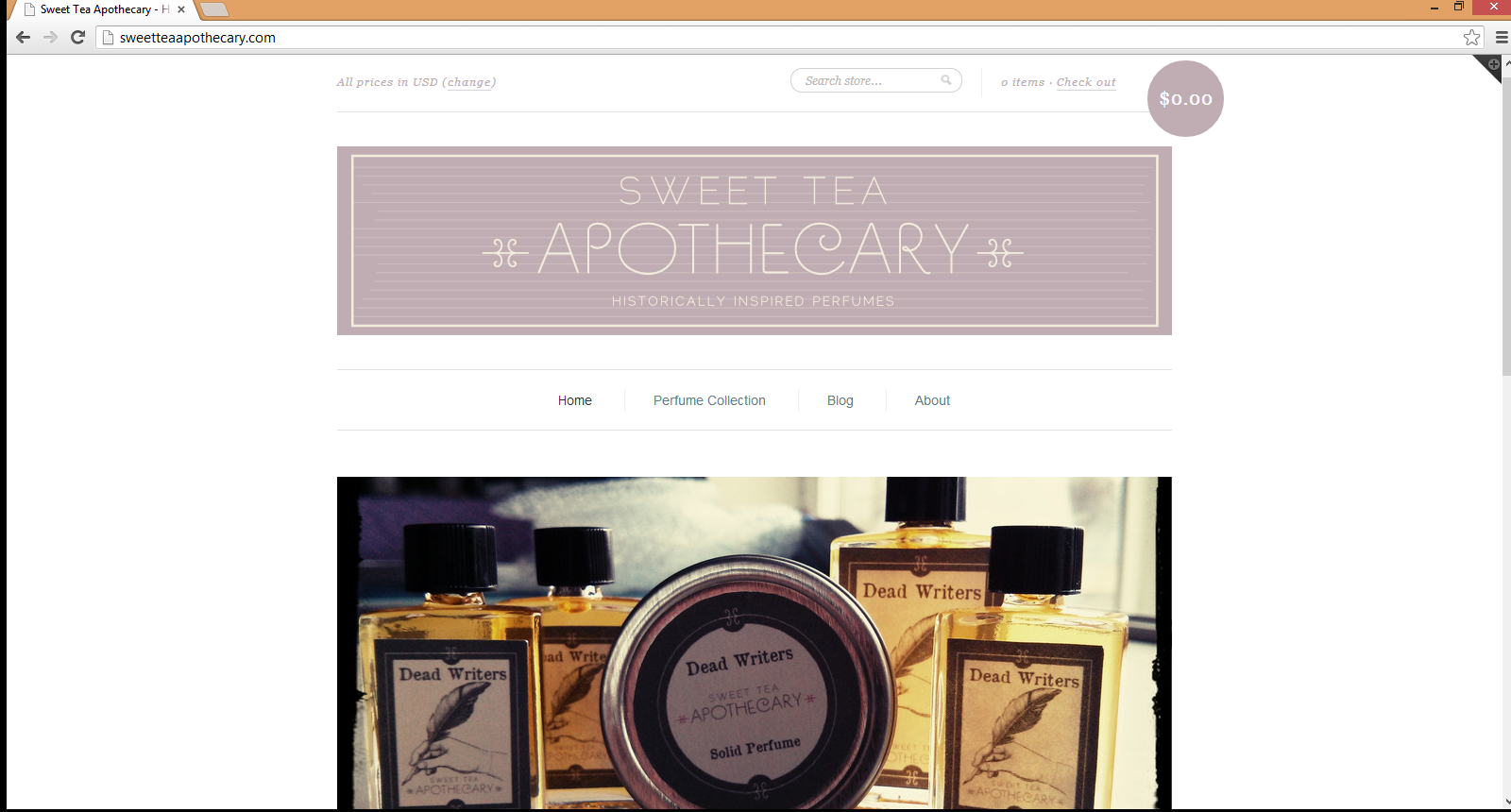 sneak peak at new Sweet Tea Apothecary website