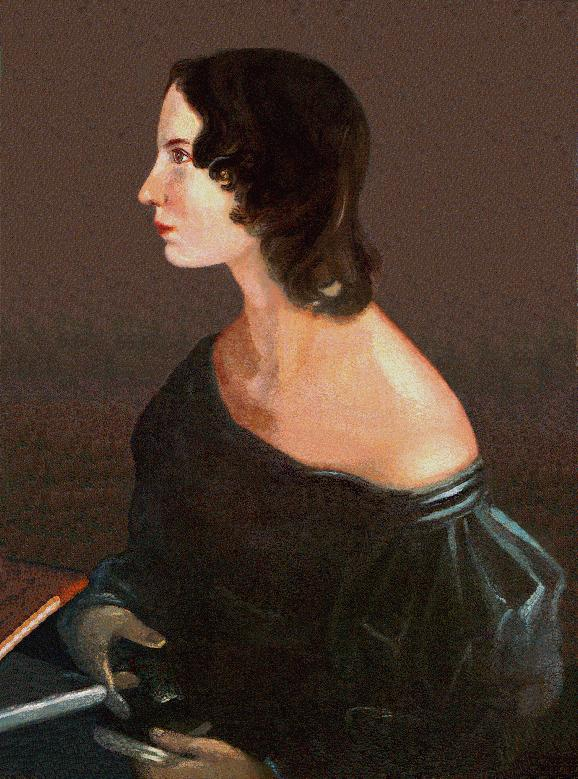 Portrait of Emily Brontë by her brother Branwell. Image from University of Adelaide.