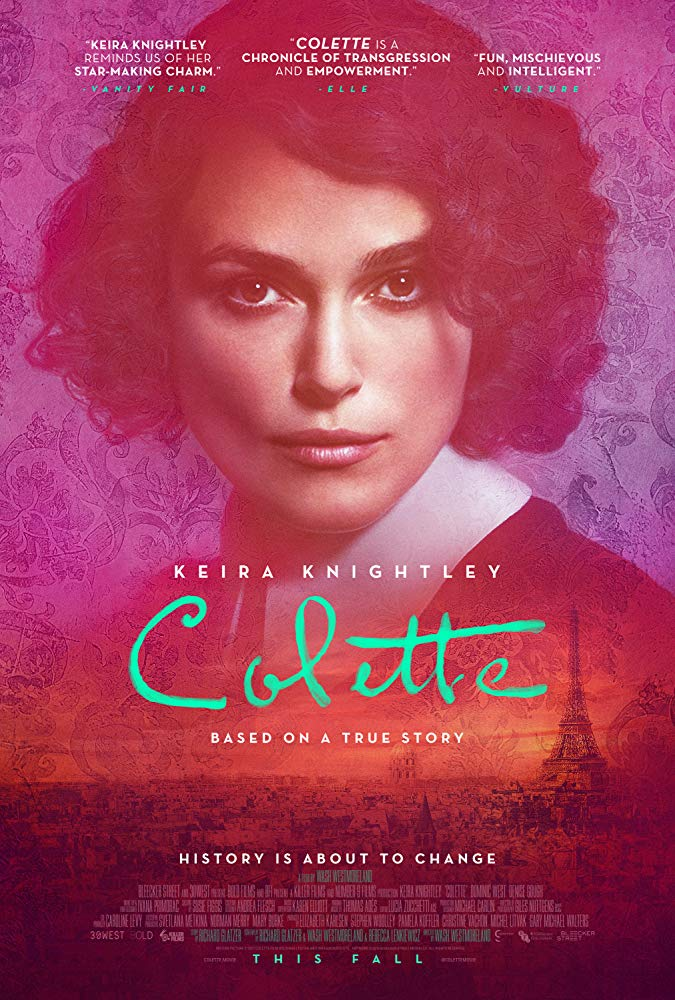 Colette movie poster, image from  IMDB