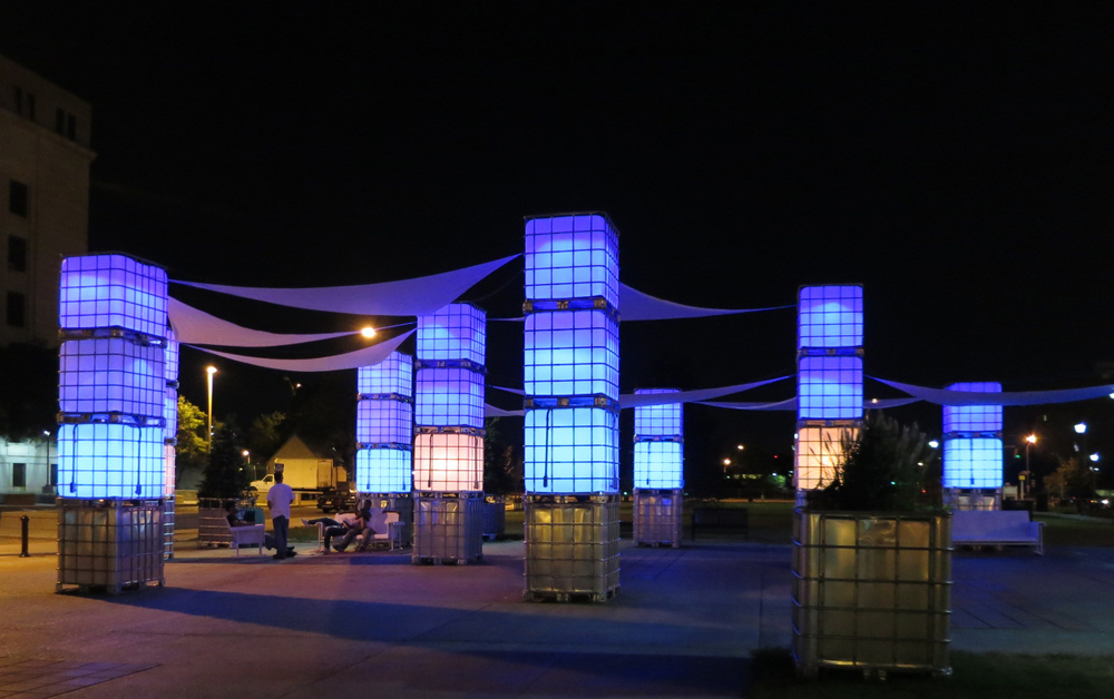 Blue Hour (2014), Camden, NJ.  Courtesy of New American Public Art.