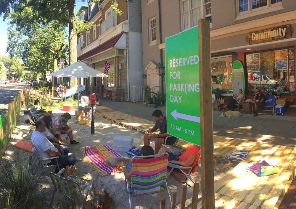 Park(ing) Day 2016, Haddonfield, NJ