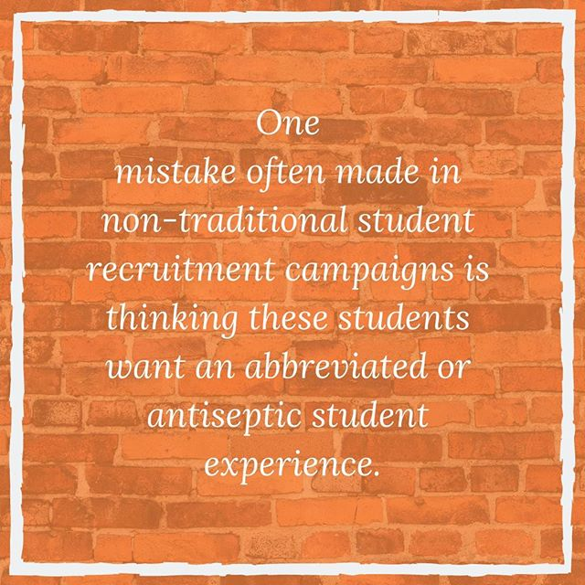 Often, what classifies students as non-traditional is their circumstances. They effort to be traditional in every other sense. Gain more insights in our blog post, 5 Non-Traditional Student Recruitment Mistakes to Avoid. 🔗 : in bio 📝: @skeestylus . . . . . #studentrecruitment #studentrecruitmentsolutions #studentrecruitmentcampaign #nontraditionalstudent