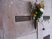 Monroe's crypt at Westwood Village Memorial Park Cemetery