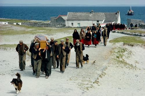 Irish village funeral