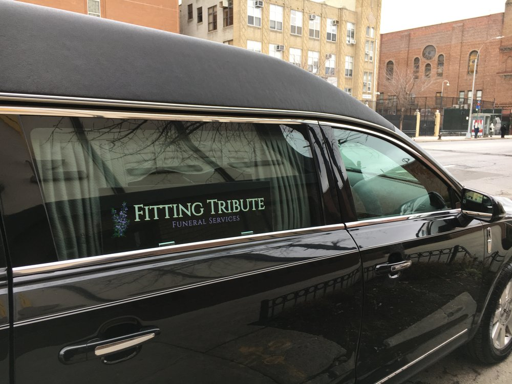 A stately 2016 Lincoln Continental hearse is available, but increasingly our families are requesting alternative vehicles to transport the deceased and SUVs or small buses for people in attendance. Amy drives pine caskets upstate herself in a 2016 dark green Honda Pilot to help folks save money on green burials.