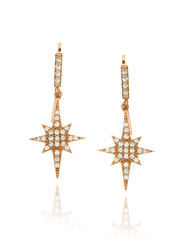 Bright star earrings