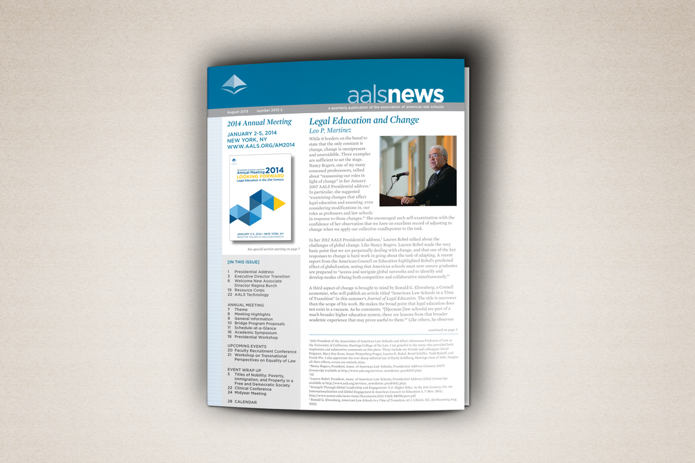 Newsletter for the Association of American Law Schools. August 2013. Download the pdf here.