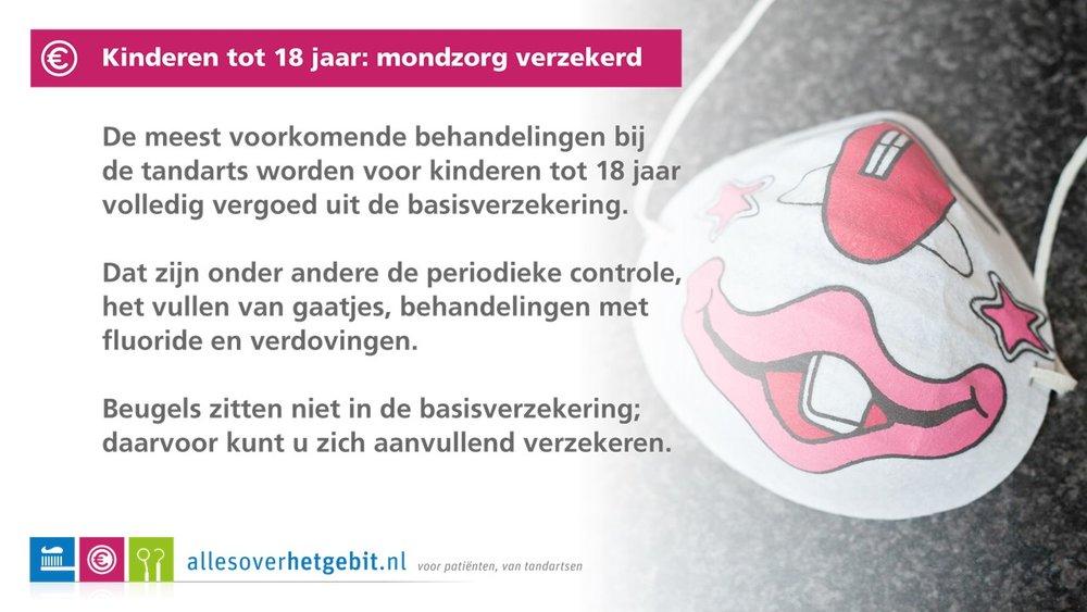Kinderen tot 18 jaar: mondzorg verzekerd