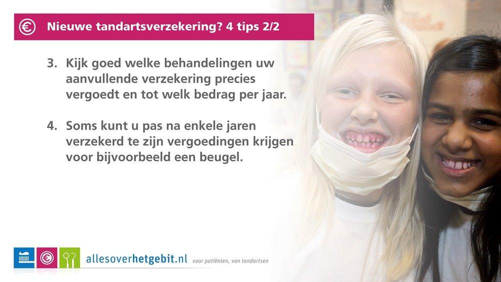 Nieuwe tandartsverzekeing? 2/2