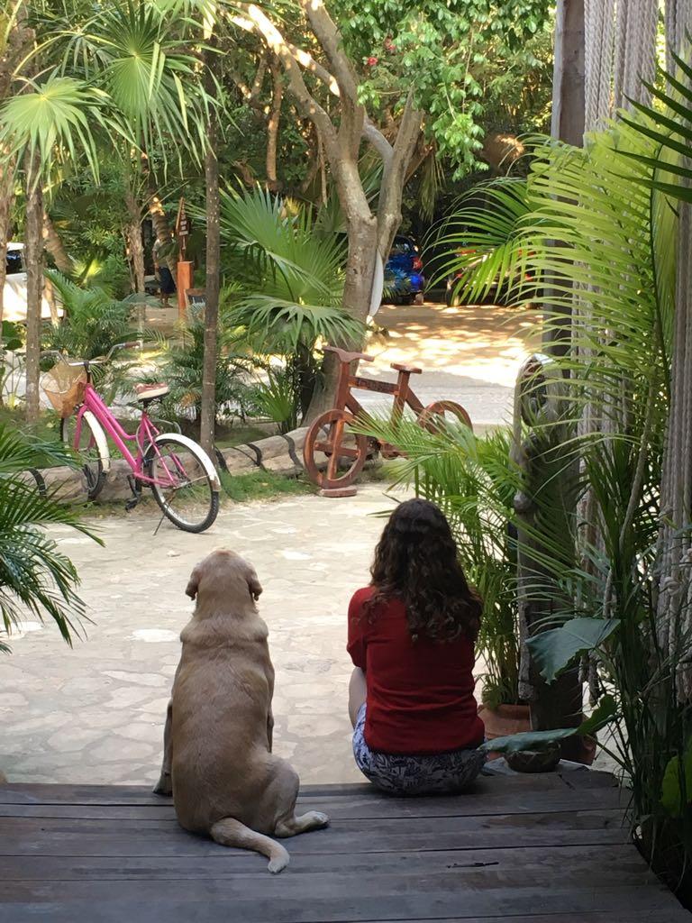 wo Friends in beach town tulum, mexico