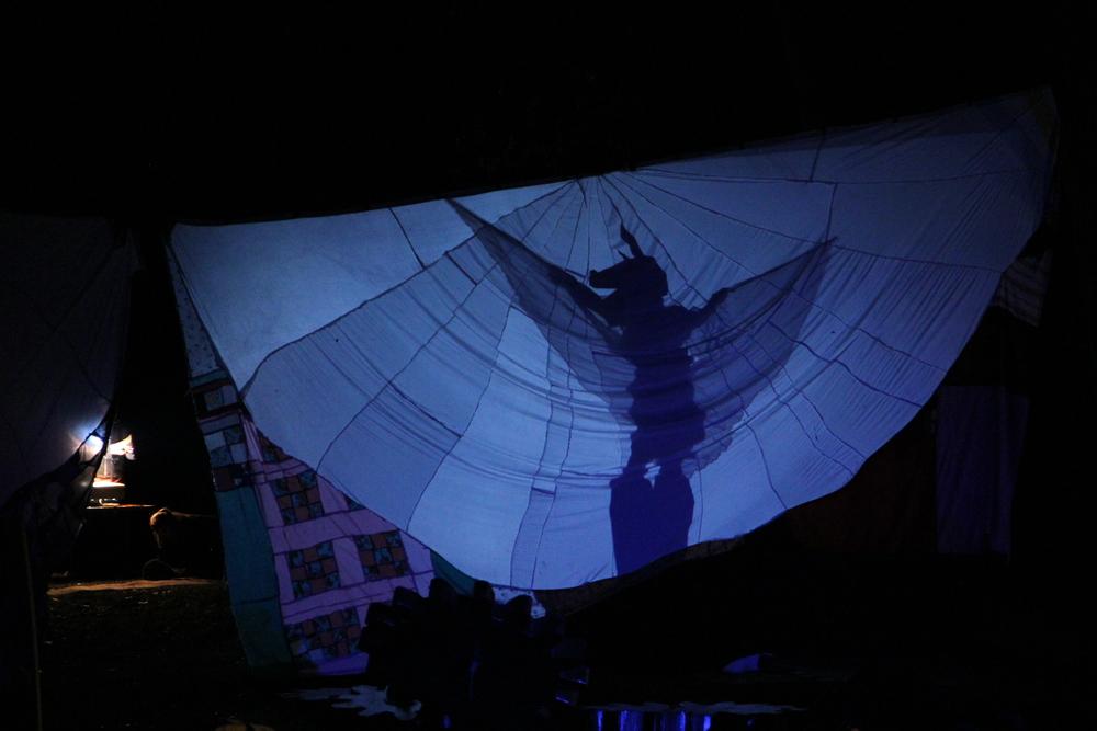 Stilted Bat Puppet Shadow