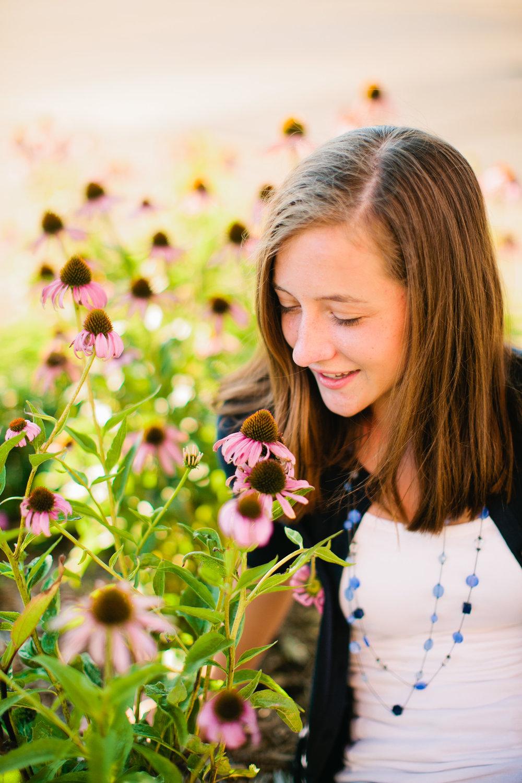 coneflowers senior photography