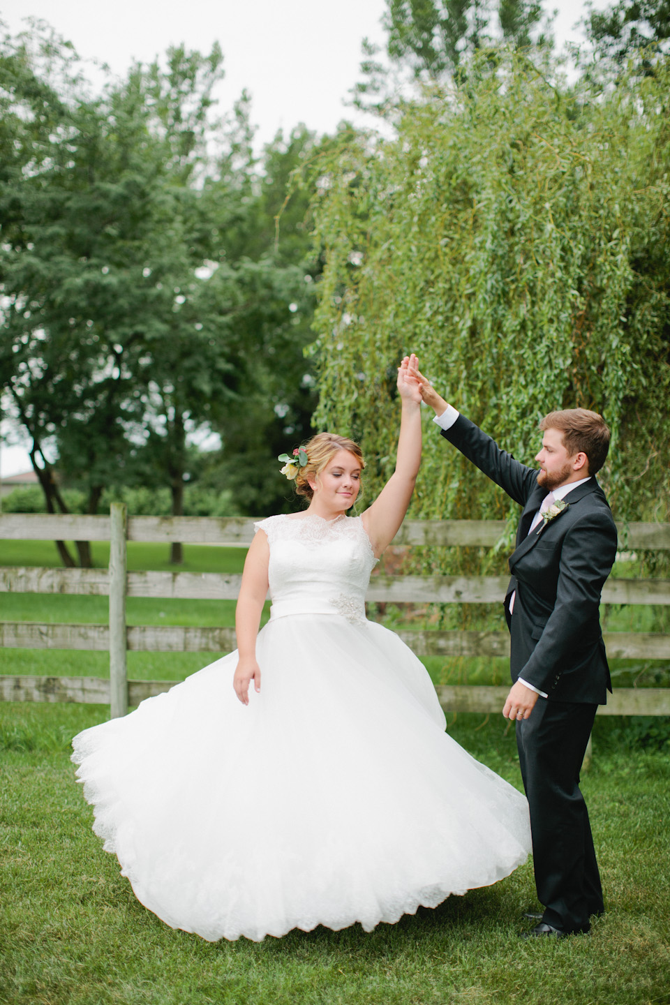 Bride and Groom twirling