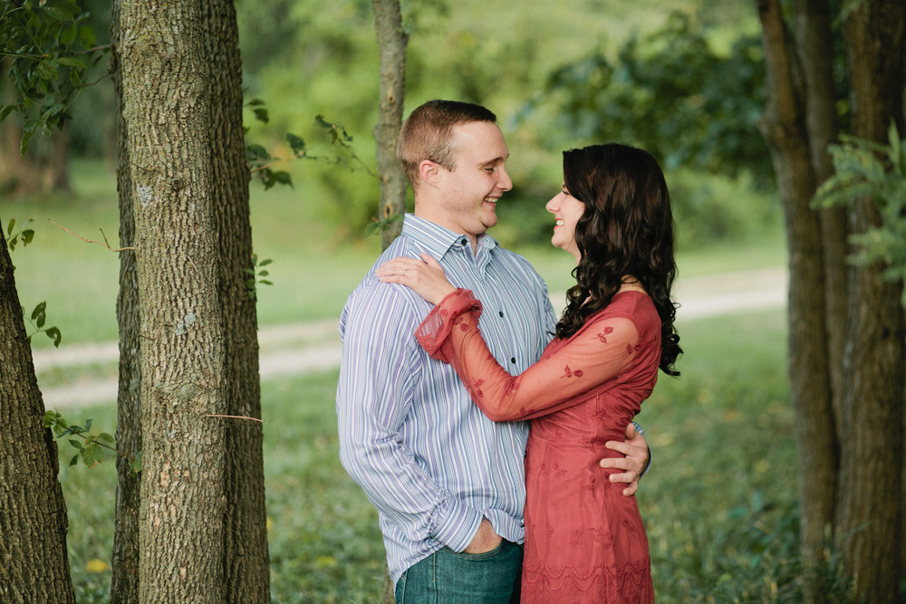 woodsy nature engagement session