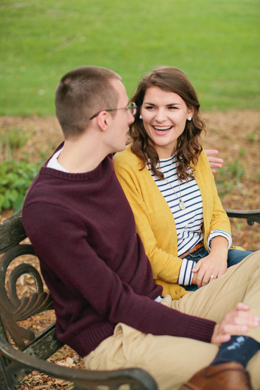 UNI campus engagement photos Iowa State University wedding