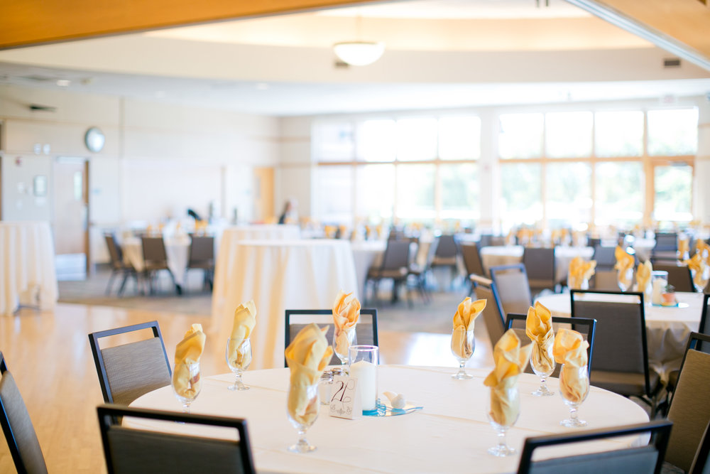 wedding reception at Plymouth Creek Center and Millennium Garden