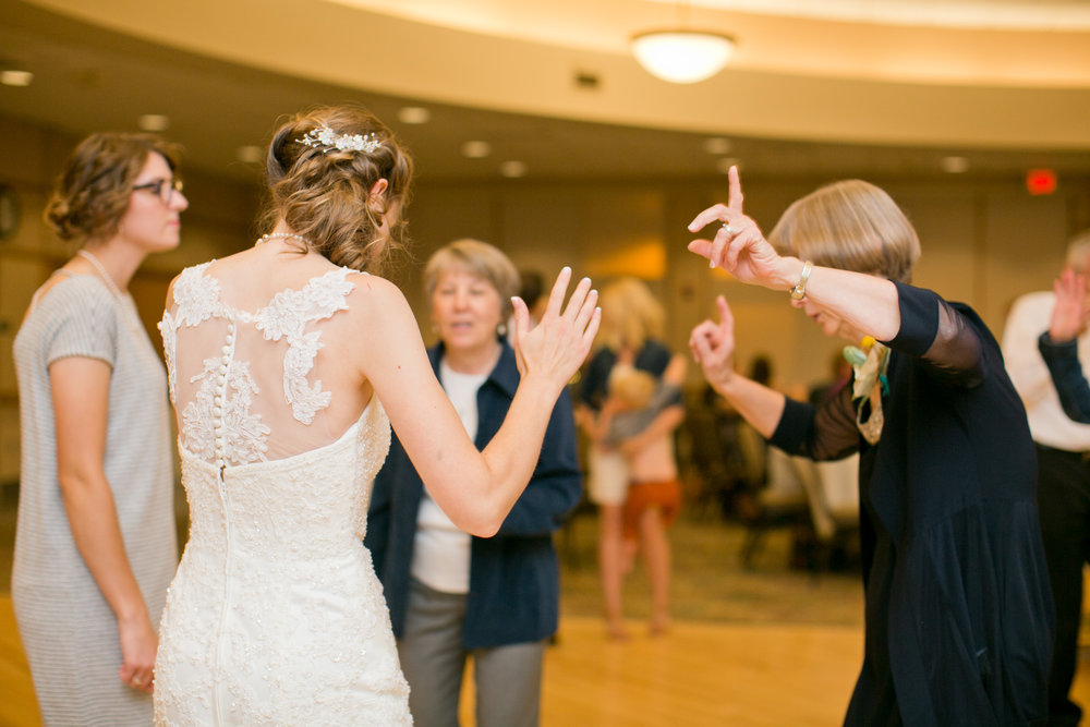 bride and mother dance at wedding in Minnesota