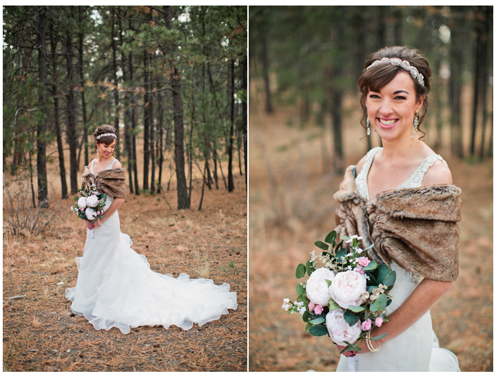 winter wedding ideas: buy a shawl or fur wrap