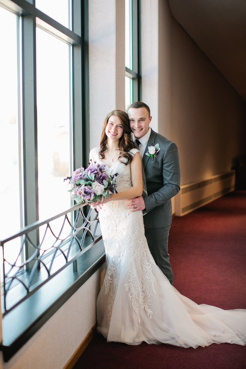 indoor winter wedding photography