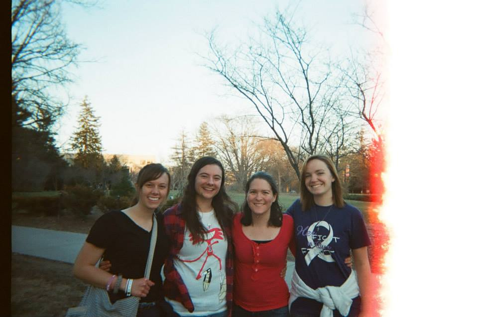 college students on Central Campus of Iowa State University in Ames