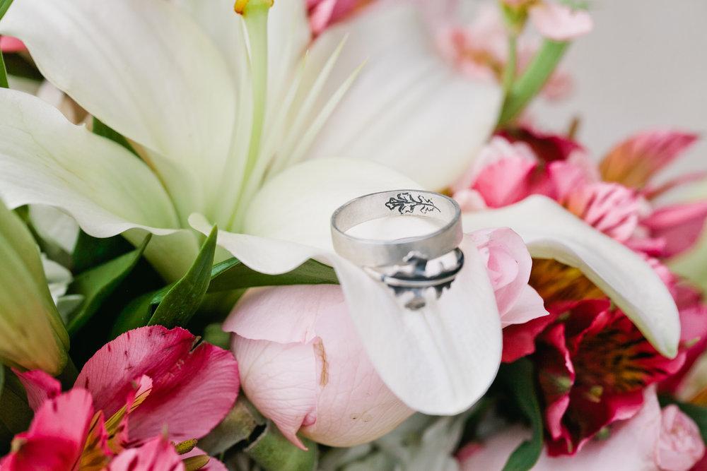 custom metal simple wedding rings