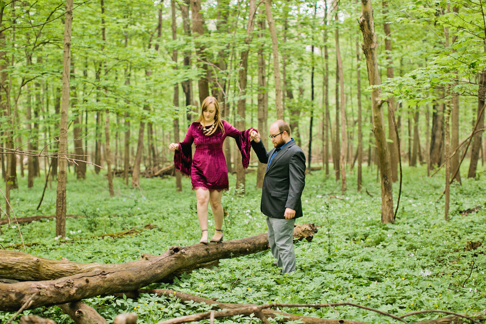 Ledges State Park engagement photos