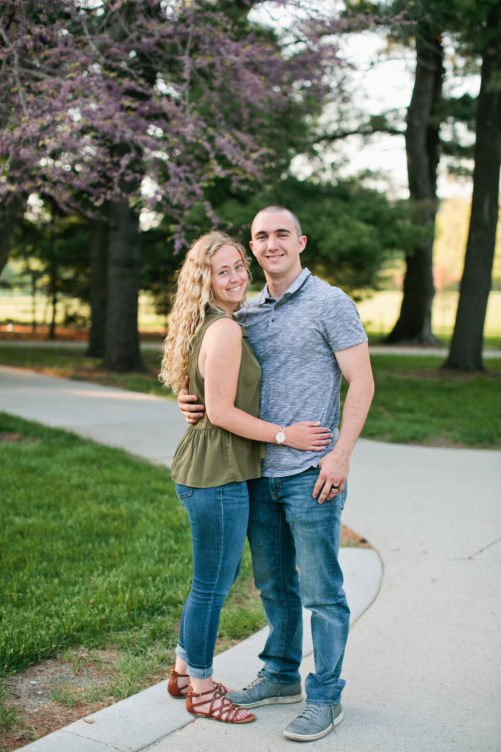 spring engagement photos in Ames, Iowa