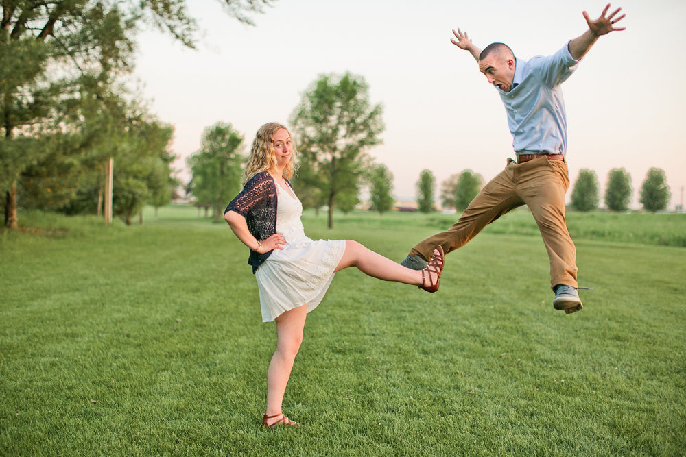 water works park des moines moon float engagement photos